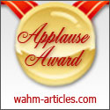 WAHM - Work At Home Mom Applause Award