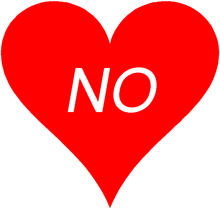FALLING IN LOVE WITH THE WORD NO