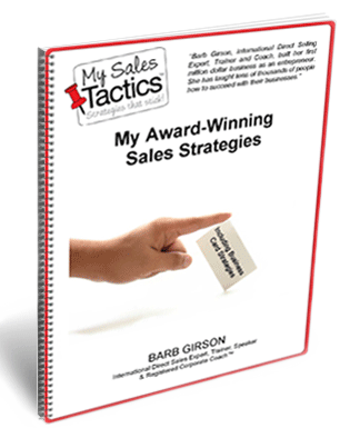 My Award-Winning Sales Strategies - eBook Cover by Barb Girson