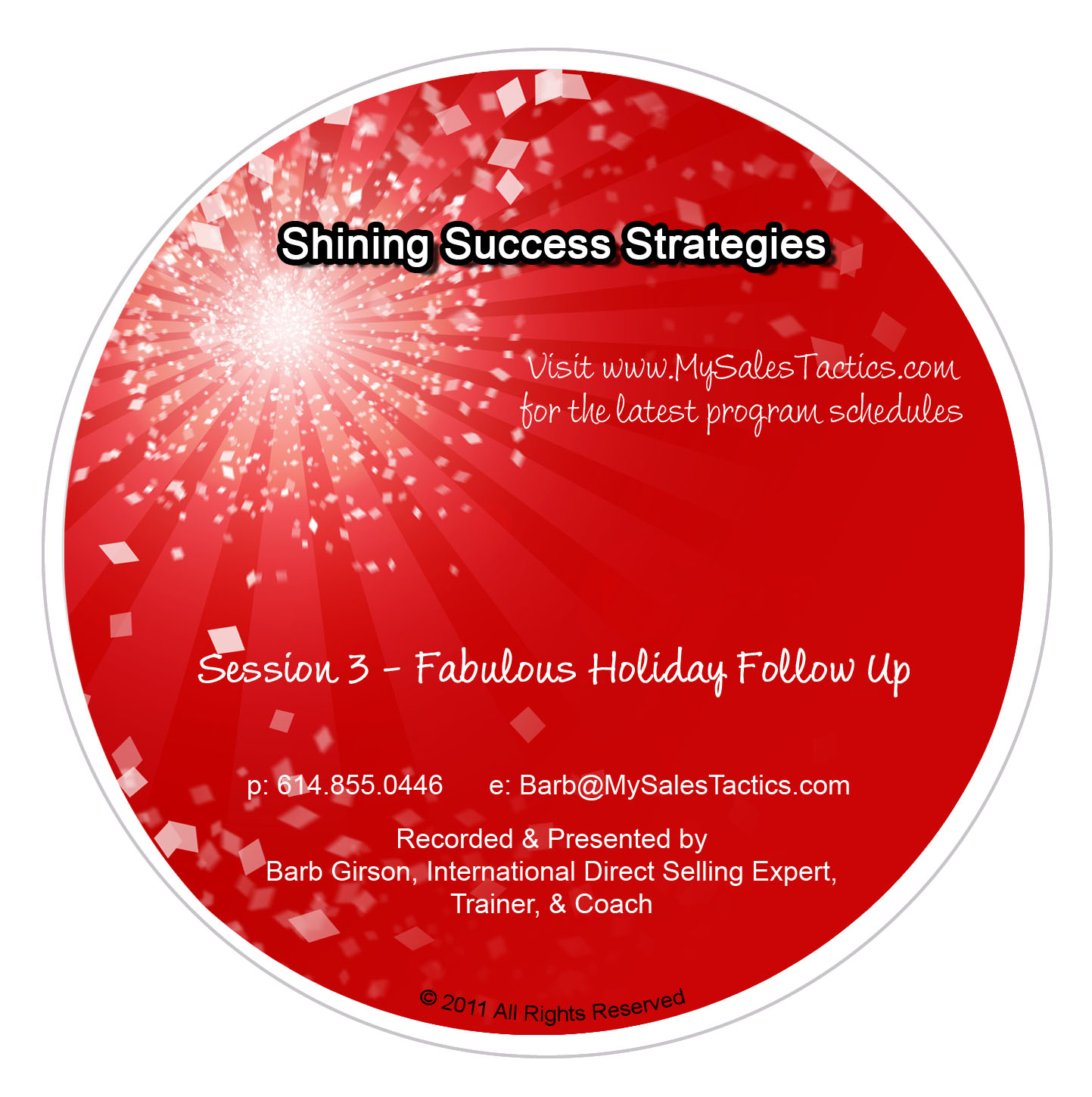 Shining Success Strategies (TM) - Session 3